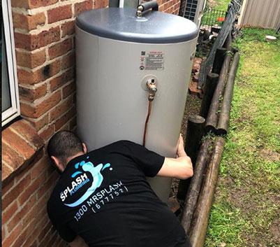 installing water heater